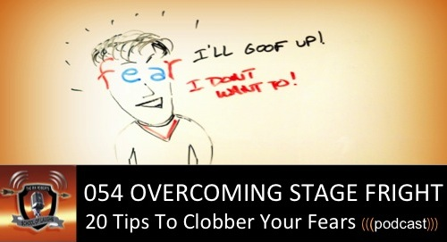 overcoming stage fright when speaking in public Pulsing heart, sweaty palms, dry mouth, frequent visits to the rest-room and sick feeling in the stomach if these sound familiar to you whenever you.