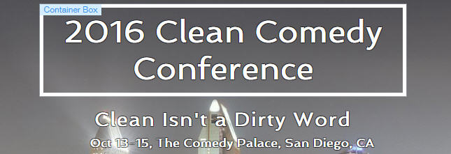 clean comedy conference