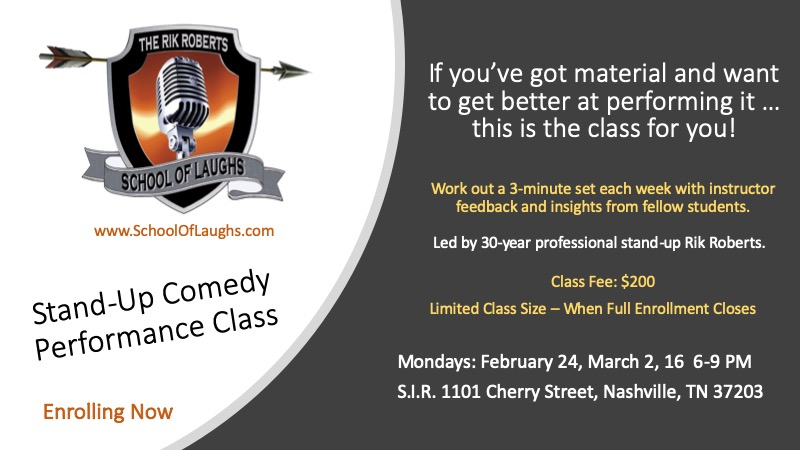Stand Up Comedy Class Nashville
