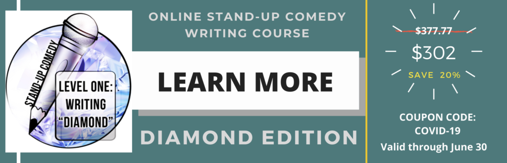 Learn stand-up comedy online. Comedy writing class for beginners.
