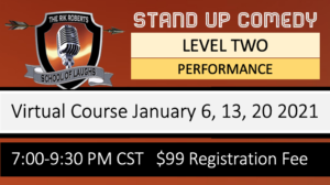 STAND UP COMEDY PERFORMANCE CLASS
