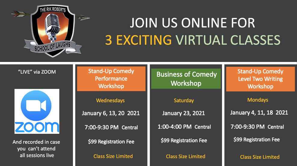 Virtual Comedy Classes
