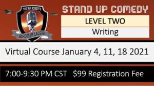 STAND-UP COMEDY WRITING CLASS